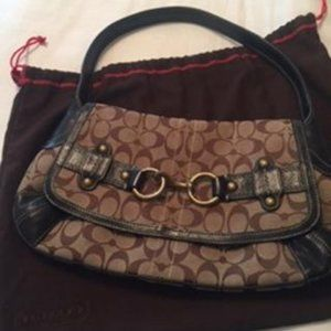 Coach Authentic Signature Ergo belted flap hobo